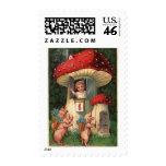 Vintage New Year Postage Stamp