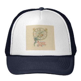 Vintage New Years Baby Clock Trucker Hats