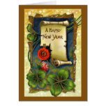 Vintage New Years Day Card