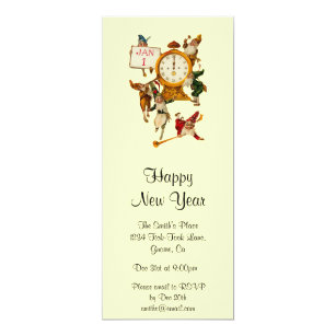 vintage new years eve invitation