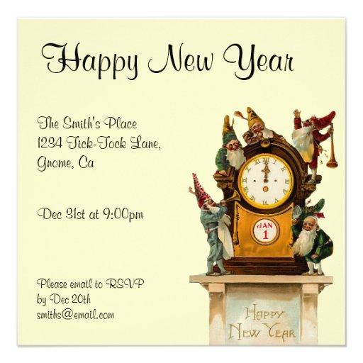 Vintage New Years Eve Invitation