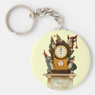 Vintage New Years Eve Keychain