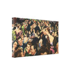 Vintage New Year's Eve Party Gallery Wrap Canvas