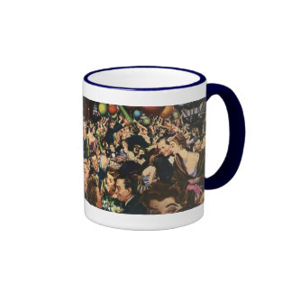 Vintage New Year's Eve Party Ringer Coffee Mug