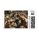 Vintage New Year's Eve Party Postage Stamps