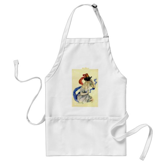 Vintage New Year's Eve Patriotic Masquerade Party Adult Apron