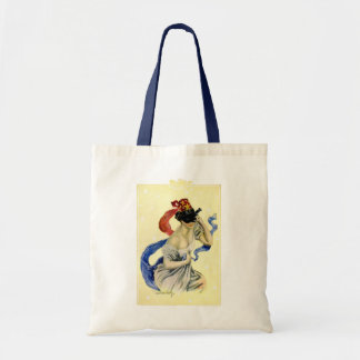 Vintage New Year's Eve Patriotic Masquerade Party Budget Tote Bag