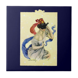 Vintage New Year's Eve Patriotic Masquerade Party Tile
