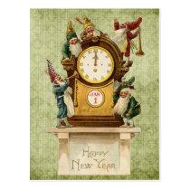Vintage-New-Years-Gnomes Postcard