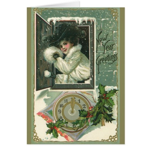 Vintage New Year's Greeting Card