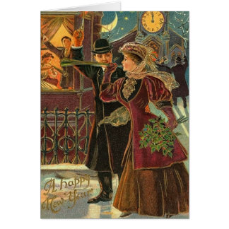 Vintage New Year's Greetings Card