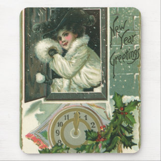 Vintage New Year's Mouse Pad