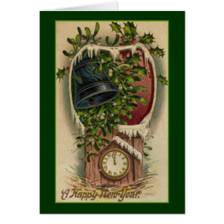 Vintage New Year's Note Card