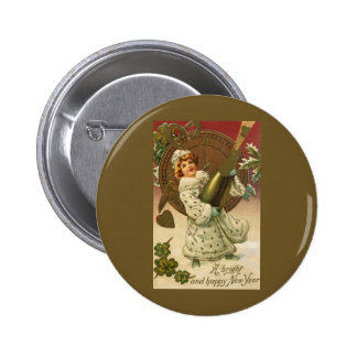 Vintage New Year's Pinback Buttons