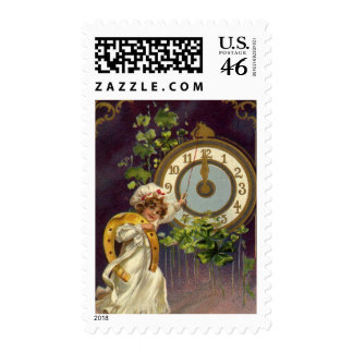 Vintage New Year's Stamp