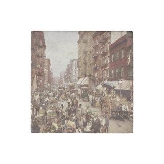 Vintage New York 1890 Stone Magnet
