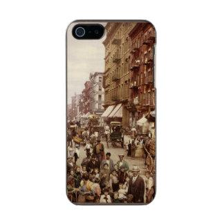 Vintage New York 1890 Metallic Phone Case For iPhone SE/5/5s