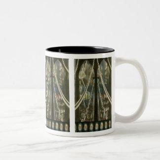 Vintage New York Architecture, Brooklyn Bridge Two-Tone Coffee Mug