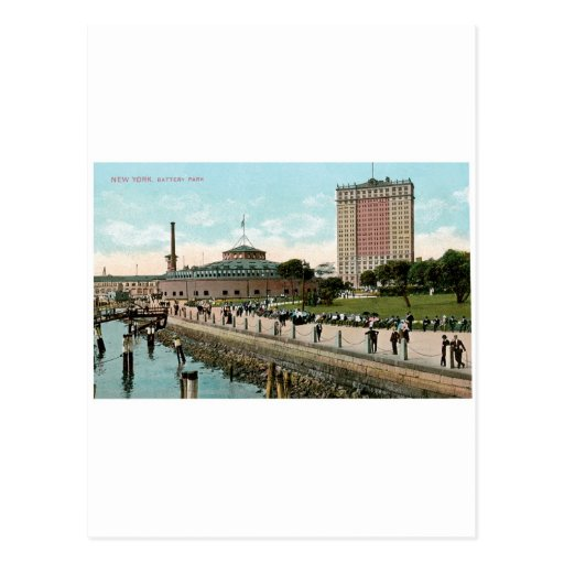 Vintage New York, Battery Park Postcard