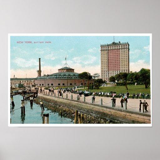 Vintage New York, Battery Park Poster
