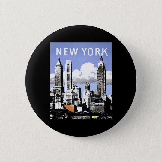 Vintage New York Button