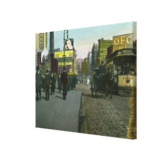 Vintage New York City 1900 Trolley Stretched Canvas Prints