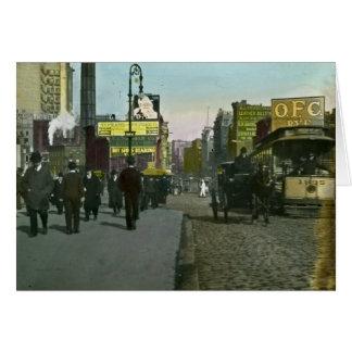 Vintage New York City 1900 Trolley Card