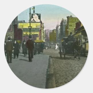 Vintage New York City 1900 Trolley Classic Round Sticker