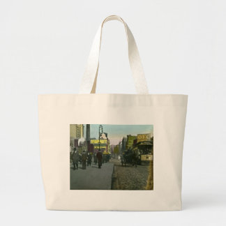 Vintage New York City 1900 Trolley Large Tote Bag