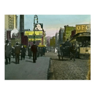 Vintage New York City 1900 Trolley Postcard