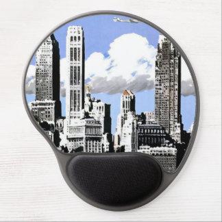 Vintage New York City Air Travel Gel Mousepad