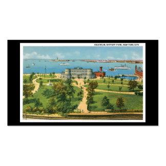 Vintage New York City, Aquarium, Battery Park Business Card Templates