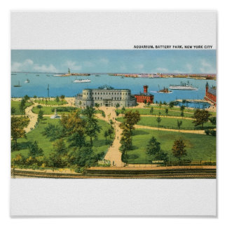 Vintage New York City, Aquarium, Battery Park Poster