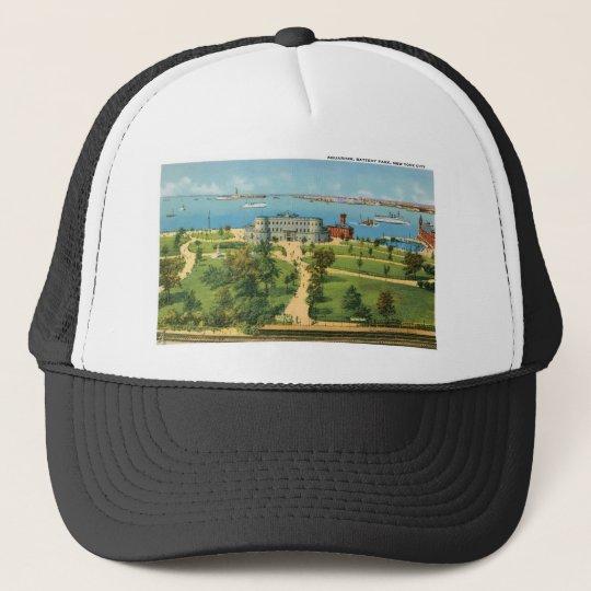 Vintage New York City, Aquarium, Battery Park Trucker Hat