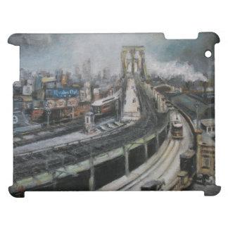 Vintage New York City Brooklyn Bridge Painting iPad Case