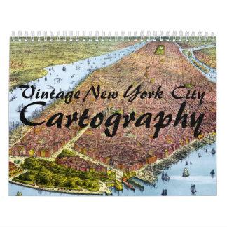Vintage New York City Cartography Calendar (2015)