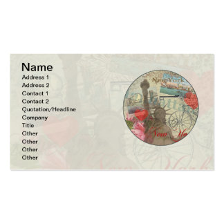 Vintage New York City Collage Double-Sided Standard Business Cards (Pack Of 100)