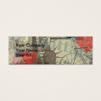 Vintage New York City Collage Mini Business Card