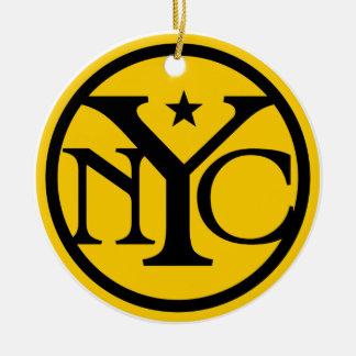 Vintage New York City Logo Ceramic Ornament