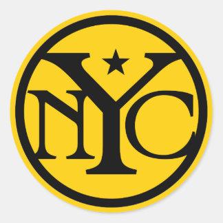 Vintage New York City Logo Classic Round Sticker