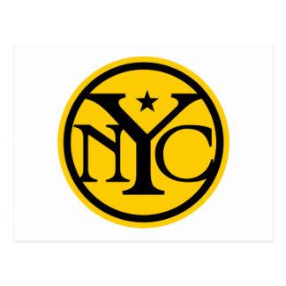Vintage New York City Logo Postcard
