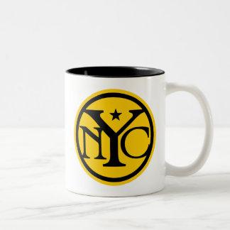 Vintage New York City Logo Two-Tone Coffee Mug