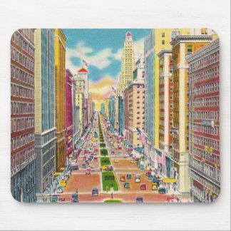 Vintage New York City, los E.E.U.U. - Mouse Pads