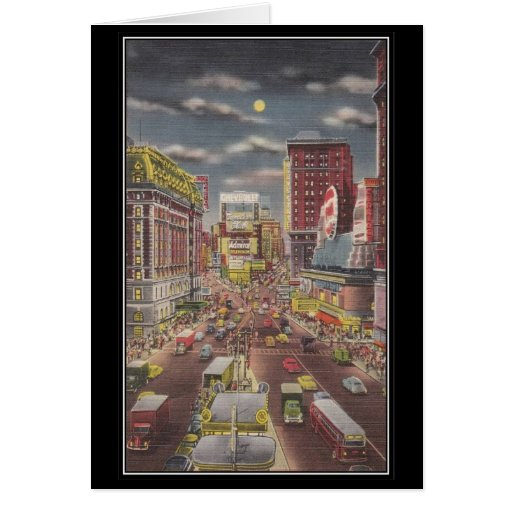 Vintage New York City, los E.E.U.U. - Tarjeta De Felicitación