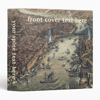 Vintage New York City, Manhattan, Brooklyn Bridge Binder