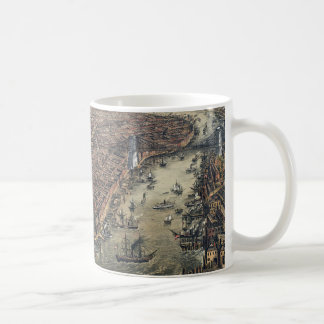 Vintage New York City, Manhattan, Brooklyn Bridge Coffee Mug