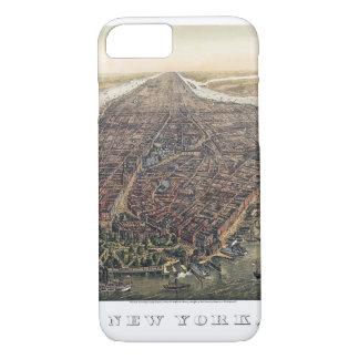 Vintage New York City, Manhattan, Brooklyn Bridge iPhone 8/7 Case