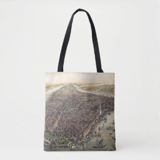 Vintage New York City, Manhattan, Brooklyn Bridge Tote Bag