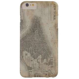 Vintage New York City Map Barely There iPhone 6 Plus Case