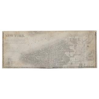 Vintage New York City Map Billfold Wallet